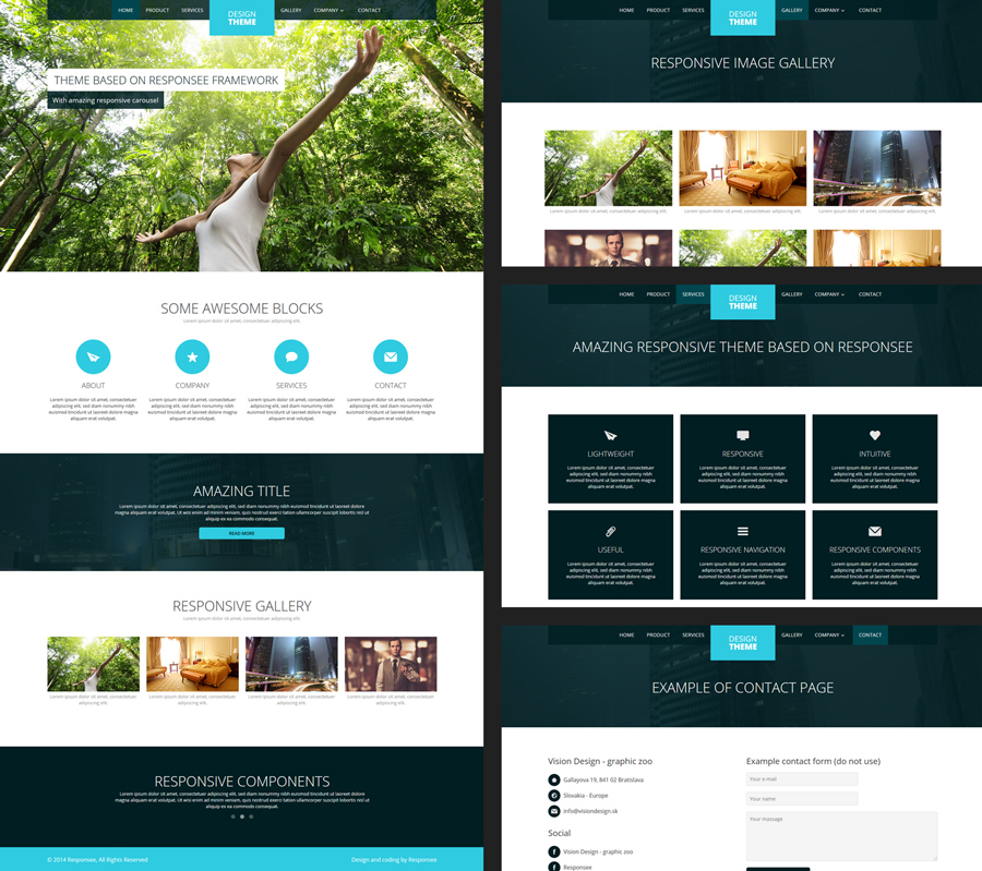 Free Responsive Design Template