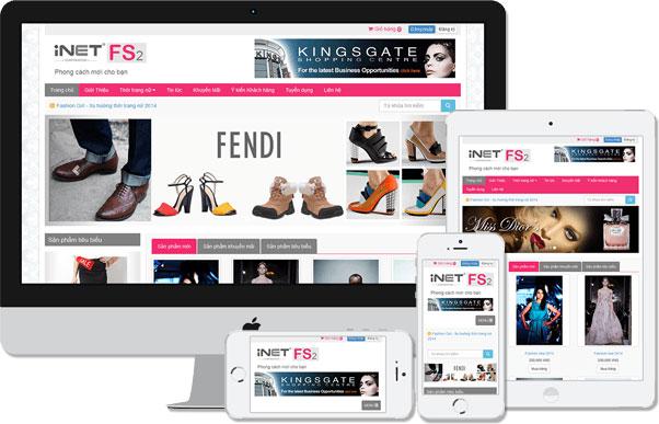 Giao diện website bán hàng của một công ty tại Đà Nẵng