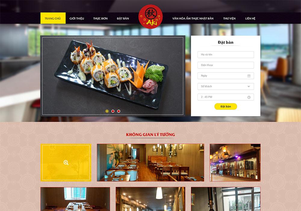 Một thiết kế web giới thiệu nhà hàng tại Đà Nẵng