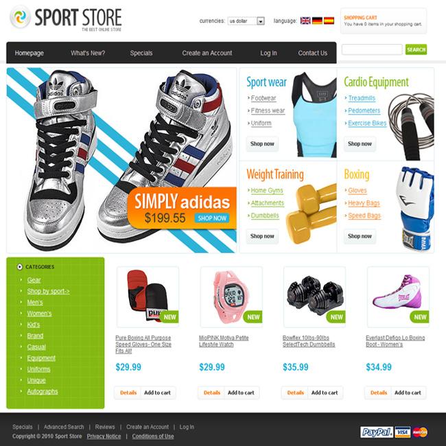 Thiết kế web shop thể thao