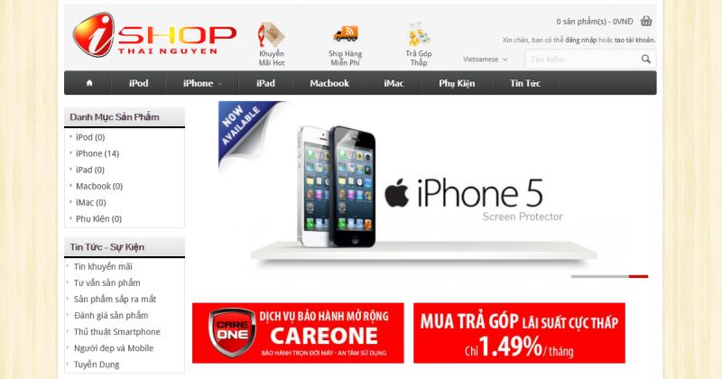 mẫu thiết kế web Thái Nguyên
