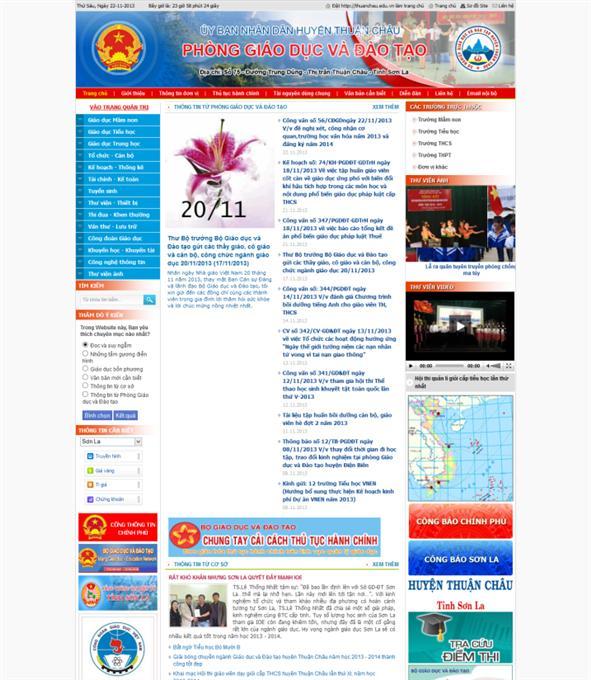 Thiết kế web cơ quan hành chính nhà nước