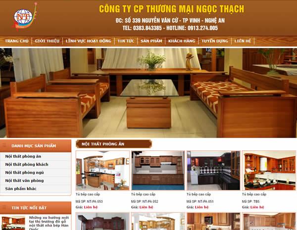 Mẫu website tại Nghệ An