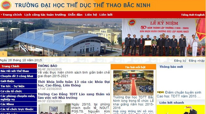 Website Đại Học Thể Dục Thể Thao Bắc Ninh Sơ đồ Và Cách Tìm Thông Tin Mới Và Nhanh Nhất
