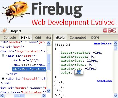 Firebug là một trong các phần mềm thiết kế web tốt được nhiều lập trình viên tin dùng