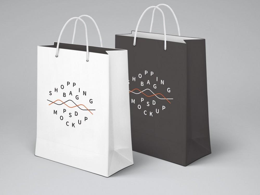 Shopping Bag PSD MockUp 1000x750