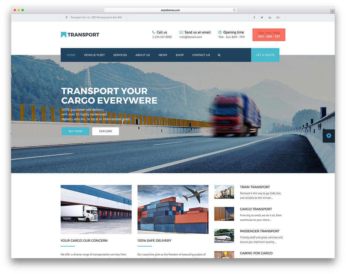 Logistics Calendar Design : Top mẫu website logistics vận chuyển giao nhận chuyên