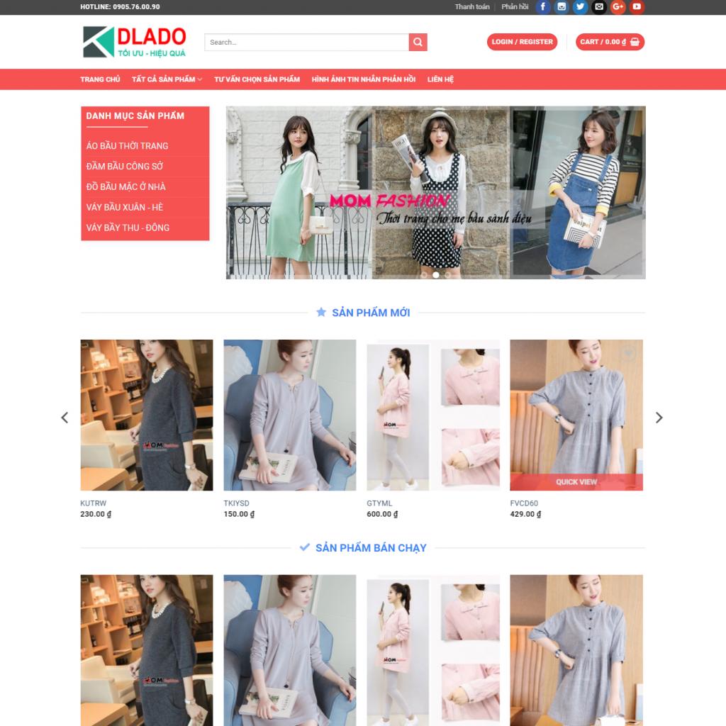 Thiết Kế Website Thời Trang Thiết Kế Website Bán Hàng Quần áo – Hàng Thời Trang Uy Tín Chất Lượng