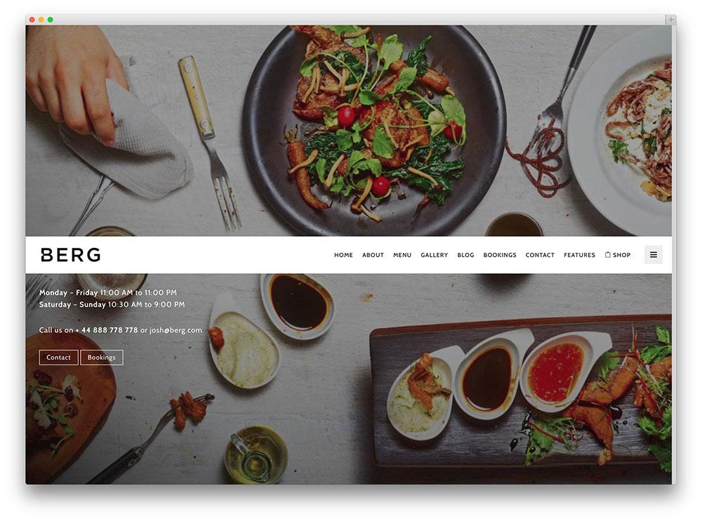 Berg Ajax Powered Restaurant Theme