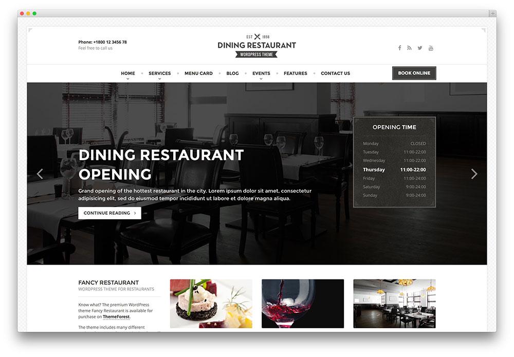 Dining Restaurant Fullscreen Classic Theme