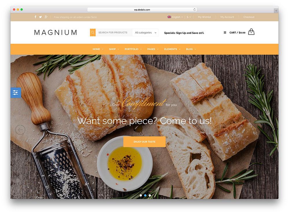 Magnium Restaurant WordPress Theme