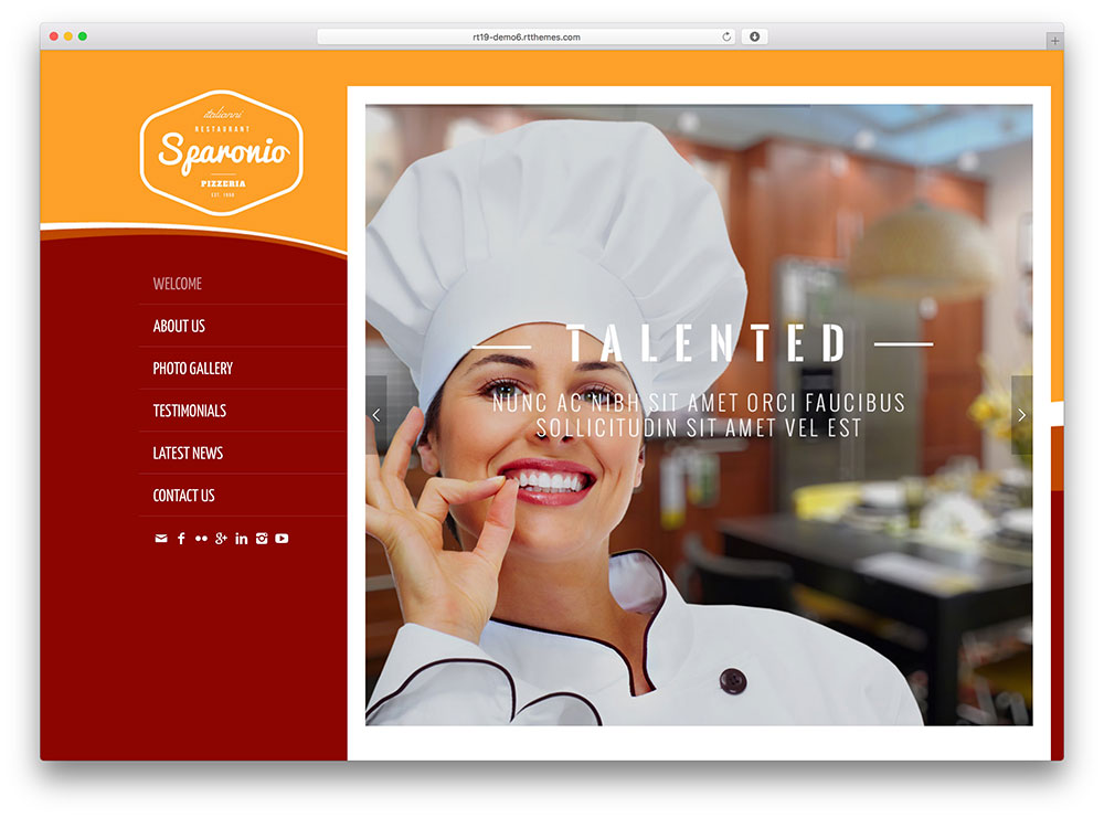 Rttheme 19 Restaurant WordPress Theme