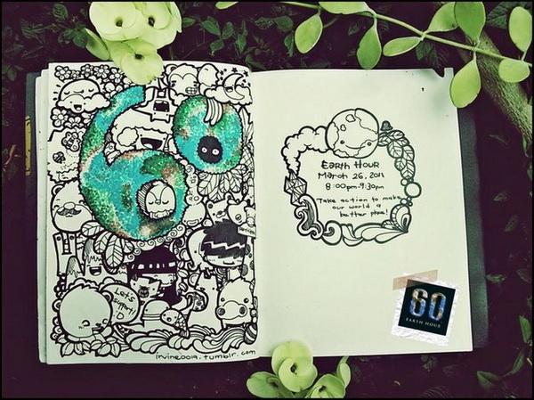 Tranh Ve Nguech Ngoac Nghe Thuat Doodle Art La Gi17