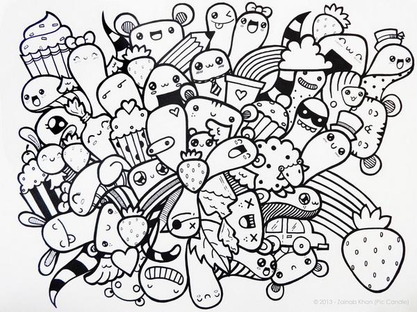Tranh Ve Nguech Ngoac Nghe Thuat Doodle Art La Gi4