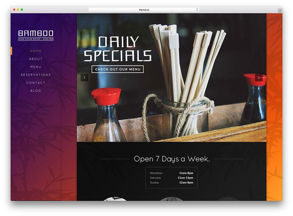 X Bright Restaurant WordPress Theme