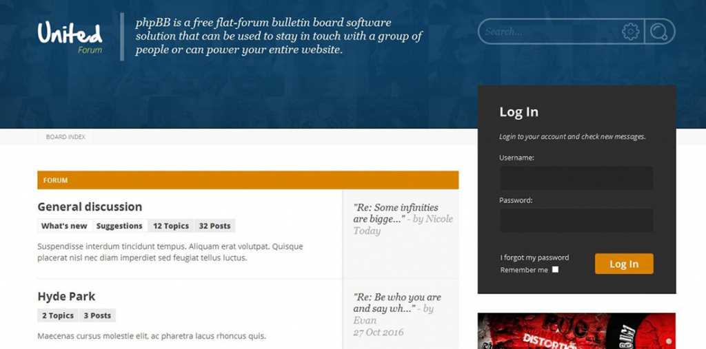 001881 UnitedForum PhpBB3 Forum Style By Diabolique ThemeForest