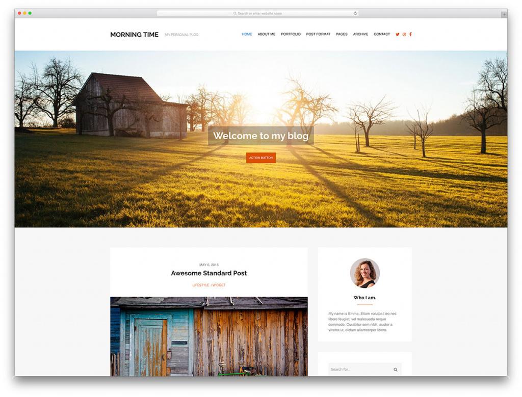 Morningtime Minimal WordPress Blog Theme