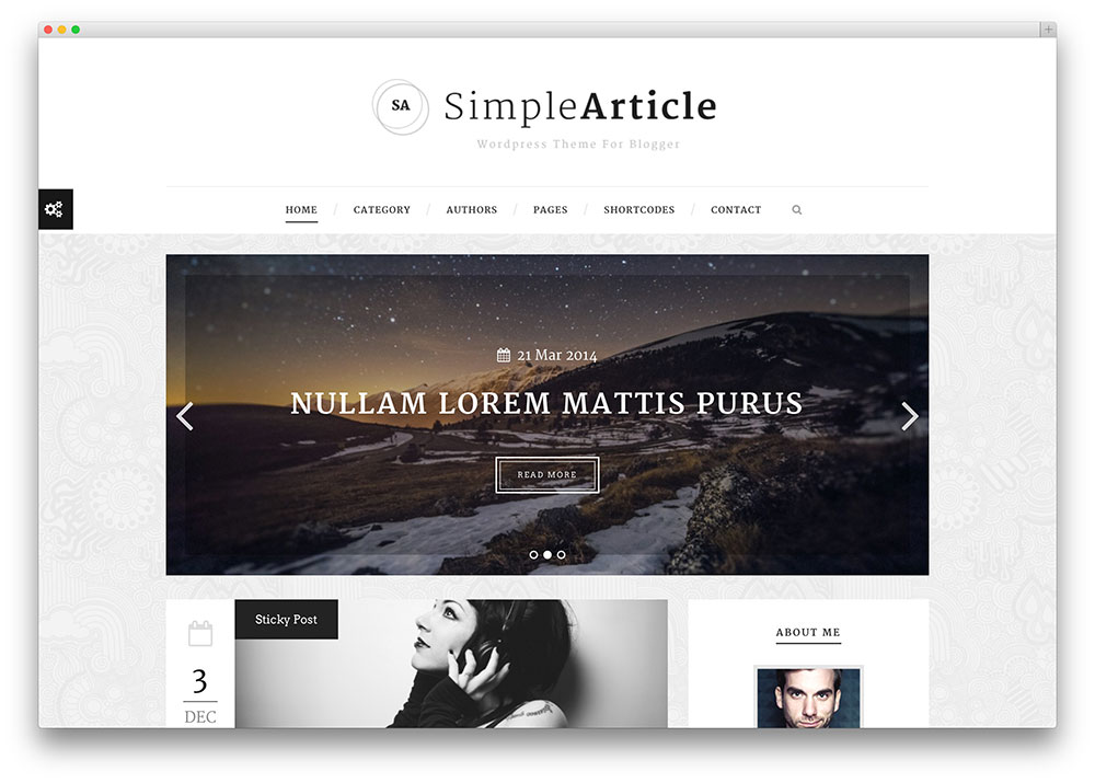 Simplearticle Theme For Bloggers