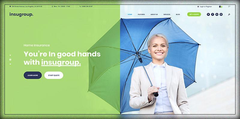 Insugroup Insurance Finance Theme