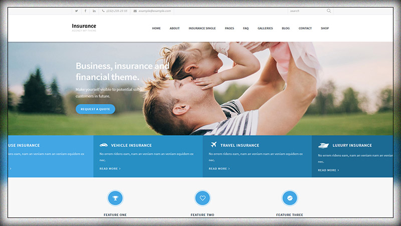 Insurance Agency Business And Insurance Wp Theme