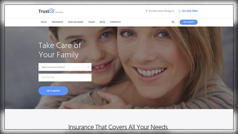Insurance Agency Business Wp Theme