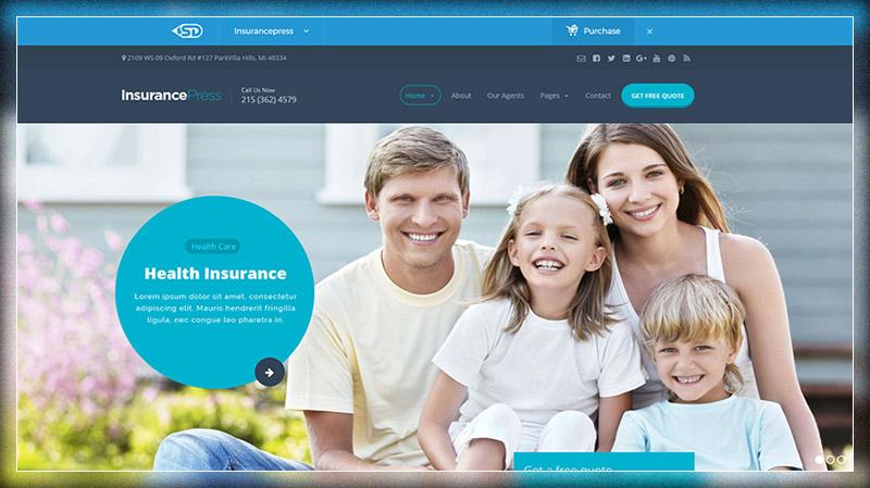 Insurance Press Insurance Agency WordPress Theme