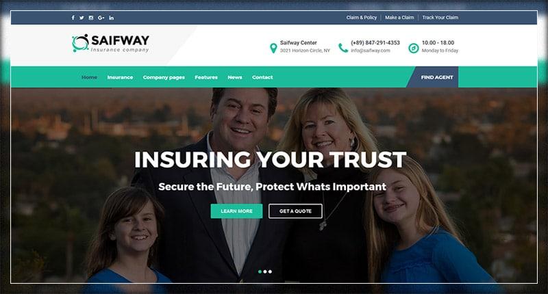 Saifway Insurance Agency WordPress Theme