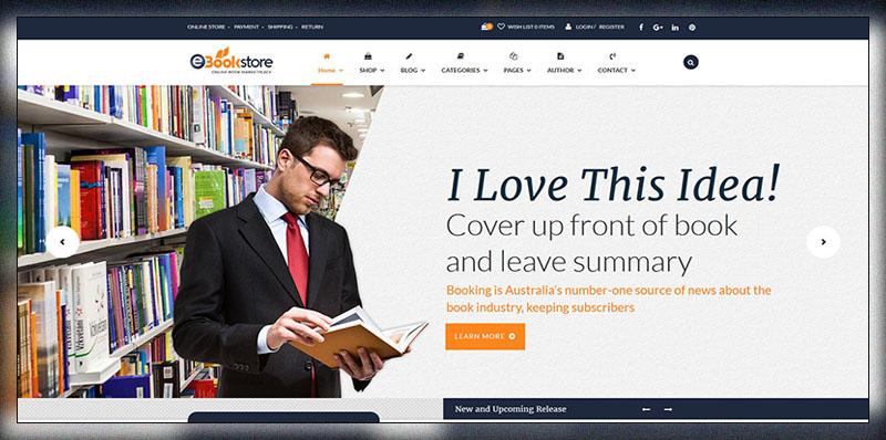 Book Store WordPress Theme Bookstore Wp