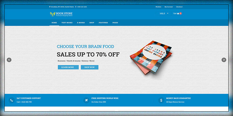 Book Store WordPress Woocommerce Theme