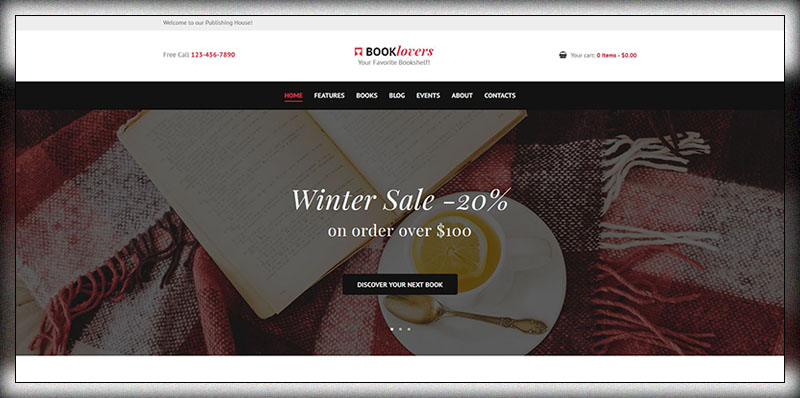 Booklovers Publishing House Book Store WordPress Theme