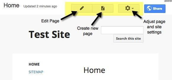 Google Sites Home
